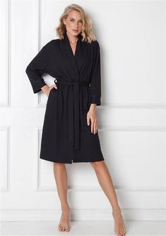 Szlafrok Aruelle Annalise Bathrobe XS-2XL black